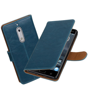 Nokia 5 Pull-Up booktype hoesje Blauw