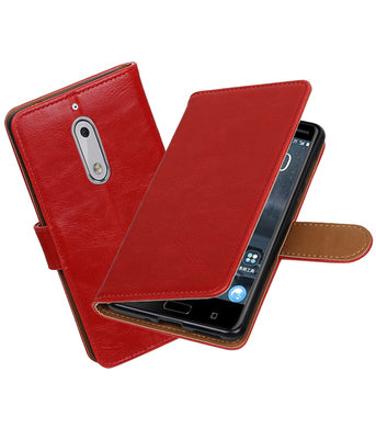Nokia 5 Pull-Up booktype hoesje Rood