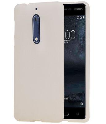 Hoesje voor Nokia 5 TPU back case transparant Wit