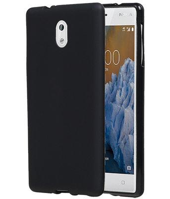 Hoesje voor Nokia 3 TPU back case Zwart