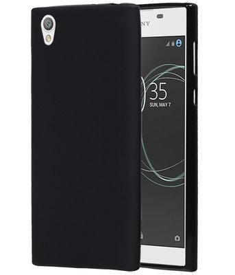 Hoesje voor Sony Xperia L1 TPU back case Zwart