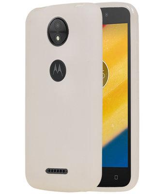 Hoesje voor Motorola Moto C Plus TPU back case transparant Wit