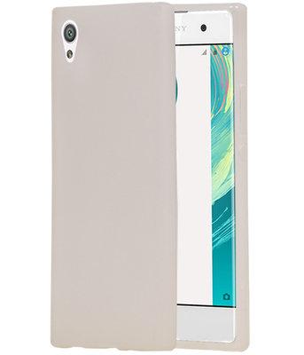 Hoesje voor Sony Xperia XA1 TPU back case transparant Wit