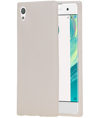 Hoesje voor Sony Xperia XZ Premium TPU back case transparant Wit