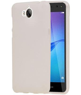 Hoesje voor Huawei Y5 2017 / Y5 III TPU back case transparant Wit