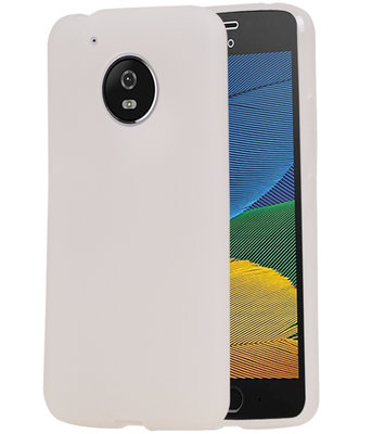 Hoesje voor Motorola Moto G5 TPU back case transparant Wit