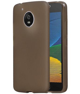 Hoesje voor Motorola Moto G5 TPU back case transparant Grijs