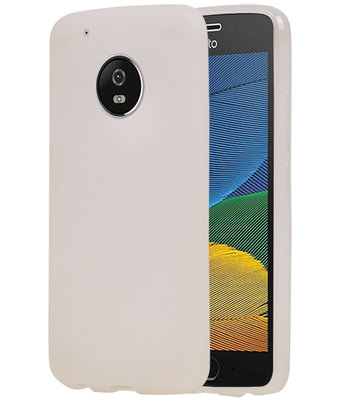 Hoesje voor Motorola Moto G5 Plus TPU back case transparant Wit