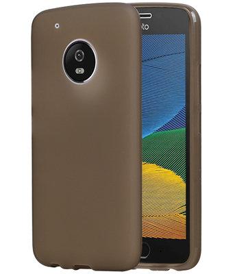 Hoesje voor Motorola Moto G5 Plus TPU back case transparant Grijs