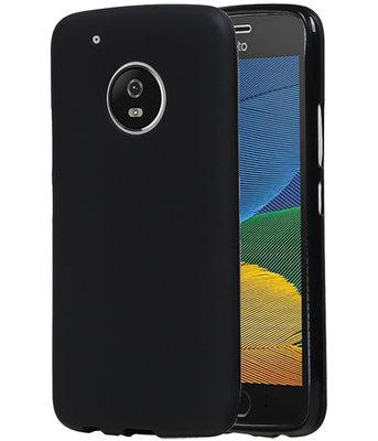 Hoesje voor Motorola Moto G5 Plus TPU back case Zwart