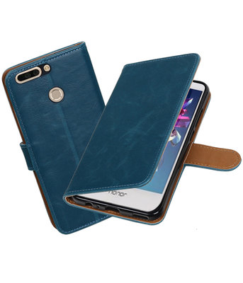 Huawei Honor 8 Pro / V9 Pull-Up booktype hoesje Blauw