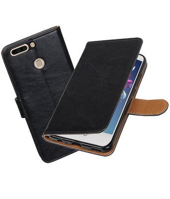Hoesje voor Huawei Honor 8 Pro / V9 Pull-Up booktype Zwart
