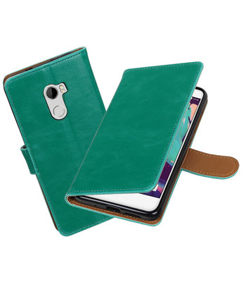 Hoesje voor HTC One X10 Pull-Up booktype Groen