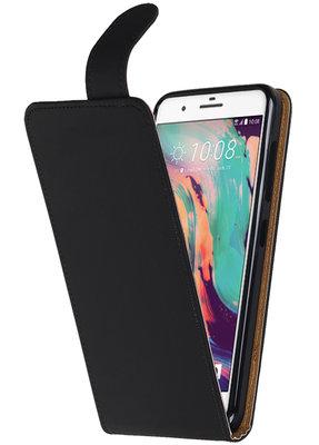 Hoesje voor HTC One X10 Effen Tpu Classic Flip Zwart