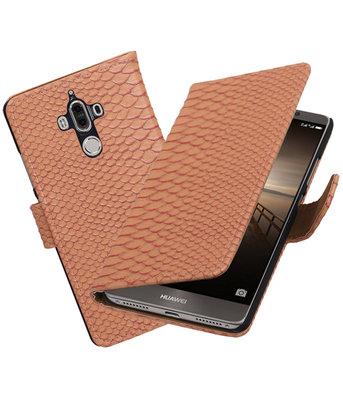 Hoesje voor Huawei Mate 9 Slang booktype Roze