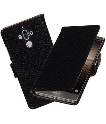 Hoesje voor Huawei Mate 9 Slang booktype Zwart