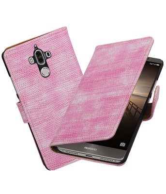Hoesje voor Huawei Mate 9 Mini Slang booktype Roze