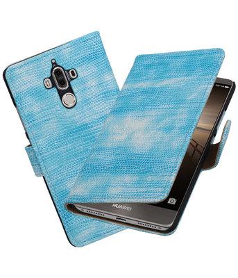 Huawei Mate 9 Mini Slang booktype hoesje Turquoise