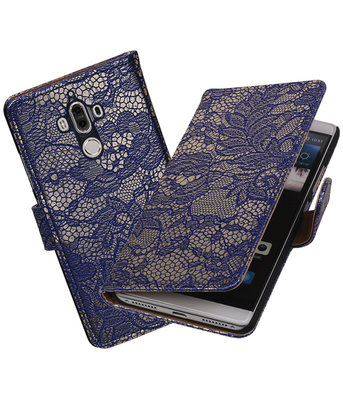 Hoesje voor Huawei Mate 9 Lace booktype Blauw