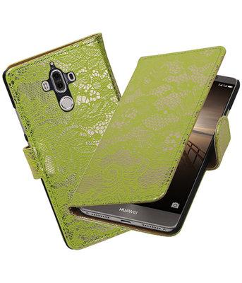 Huawei Mate 9 Lace booktype hoesje Groen