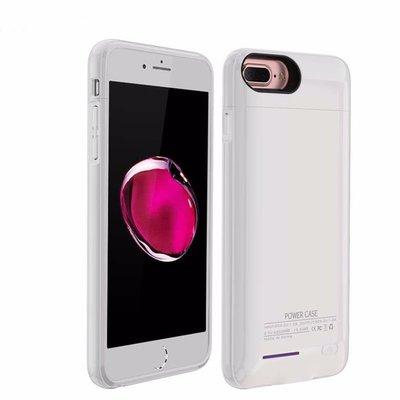 Wit smart batterij Hoesje voor Apple iPhone 6 Plus / 6s Plus en iPhone 7 Plus