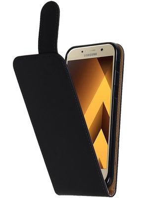 Hoesje voor Samsung Galaxy A3 2017 Effen Classic TPU flip Zwart