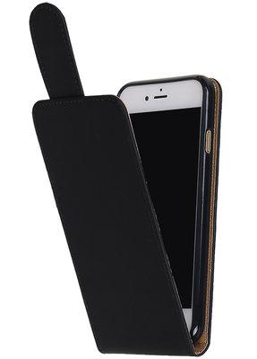 Hoesje voor Apple iPhone 7 / 8 Effen Classic TPU flip Zwart