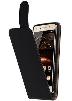 Hoesje voor Huawei Y5 II Effen Classic TPU flip Zwart