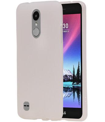 Hoesje voor LG K4 2017 TPU back case transparant Wit