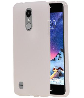 Hoesje voor LG K8 2017 TPU back case transparant Wit