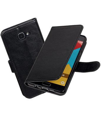 Zwart Portemonnee booktype Hoesje voor Samsung Galaxy A7 2016 A710
