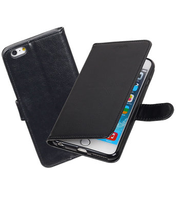 Zwart Portemonnee booktype Hoesje voor Apple iPhone 6 Plus / 6s Plus