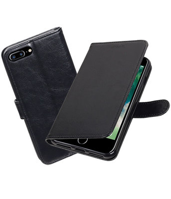 Zwart Portemonnee booktype Hoesje voor Apple iPhone 7 Plus / 8 Plus