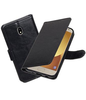 Zwart Portemonnee booktype hoesje Samsung Galaxy J7 2017