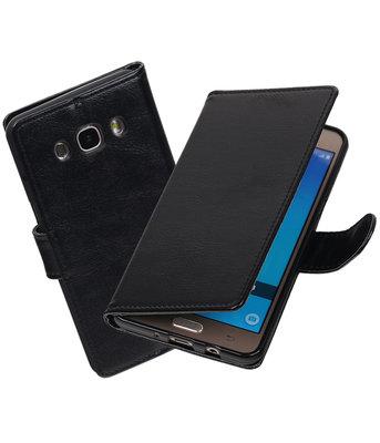 Zwart Portemonnee booktype Hoesje voor Samsung Galaxy J7 2016