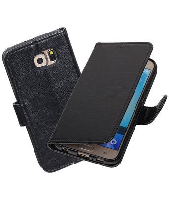 Zwart Portemonnee booktype Hoesje voor Samsung Galaxy S6 G920F