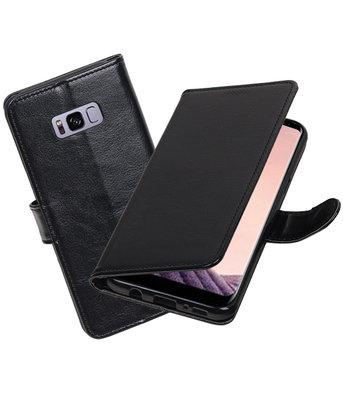 Zwart Portemonnee booktype Hoesje voor Samsung Galaxy S8+ plus
