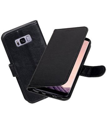 Zwart Portemonnee booktype Hoesje voor Samsung Galaxy S8