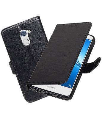 Zwart Portemonnee booktype Hoesje voor Huawei Y7 / Y7 Prime