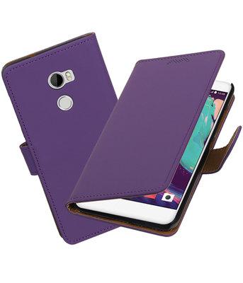 Hoesje voor HTC One X10 Effen booktype Paars