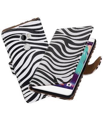 Hoesje voor HTC U11 Zebra booktype