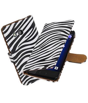 HTC U11 Zebra booktype hoesje