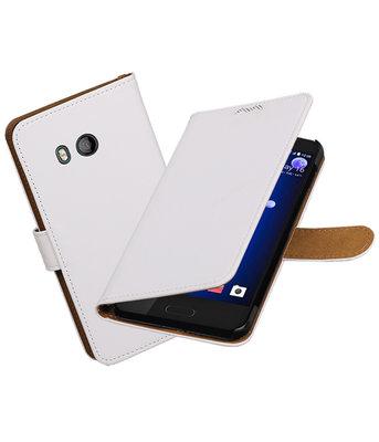 Hoesje voor HTC U11 Effen booktype Wit