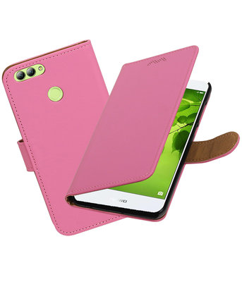 Hoesje voor Huawei nova 2 Effen booktype Roze