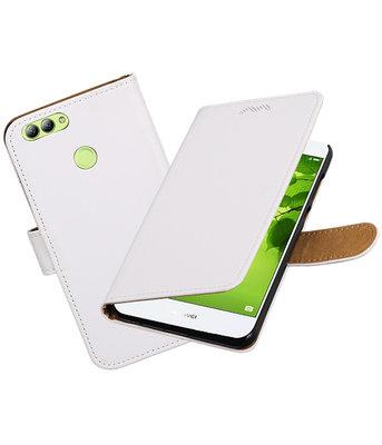 Hoesje voor Huawei nova 2 Effen booktype Wit