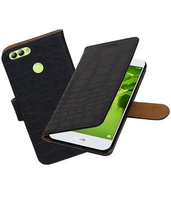 Hoesje voor Huawei nova 2 Krokodil booktype Zwart