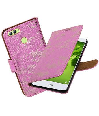 Hoesje voor Huawei nova 2 Lace booktype Roze