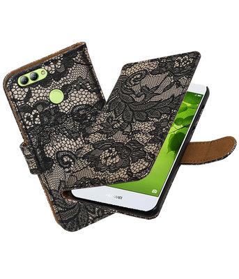 Hoesje voor Huawei nova 2 Lace booktype Zwart