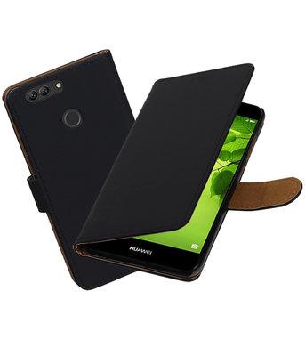 Hoesje voor Huawei nova 2 Plus Effen booktype Zwart
