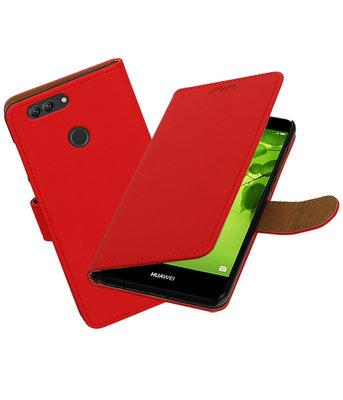 Hoesje voor Huawei nova 2 Plus Effen booktype Rood